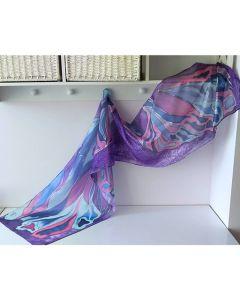 Рисуван шал, Тюркоазено лилава магия