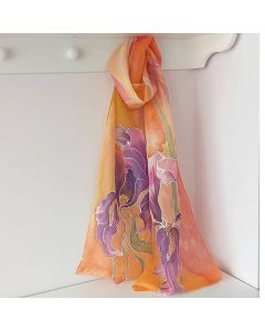 Рисуван шал, Ириси на оранжев фон