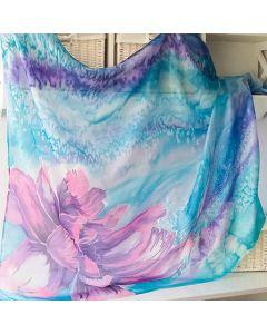 Ръчно рисуван шал, Каменното цвете в лила