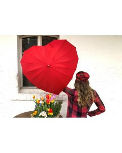 Сърце, червен чадър