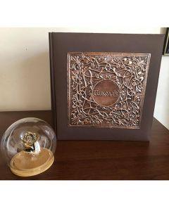 Двоен фото албум от кована мед с индивидуален надпис