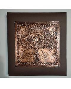 Фото албум с корица от кована мед, Дървото на живота