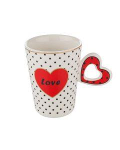 Чаша от порцелан, сърце