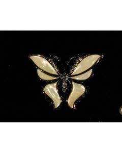 Брошка пеперуда, бял седеф
