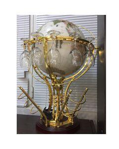 Глобус, бар от полускъпоценни камъни