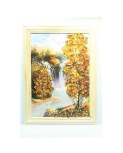 Картина с естествен кехлибар, Водопад
