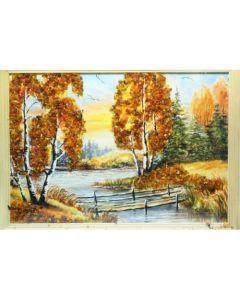 Картина с естествен кехлибар, Мост