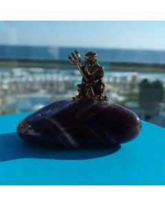 Зодия Водолей, миниатюра с полускъпоценен камък