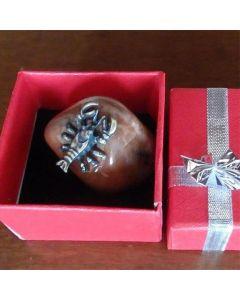 Зодия Скорпион, миниатюра с полускъпоценен камък
