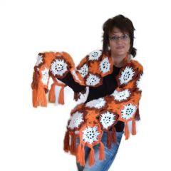 """Шал, плетен на една кука """"Есенни цветя"""""""