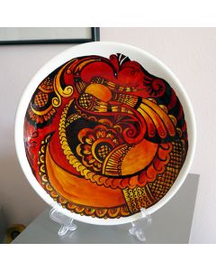 """Ръчно рисувана керамична чиния """"Традиция"""""""