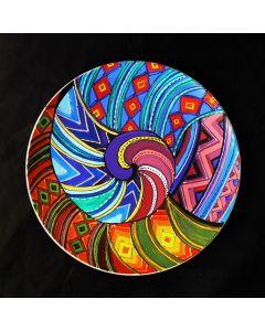 Декоративна, рисувана чиния, Черга