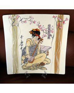 Ръчно рисувана керамика, Сакура