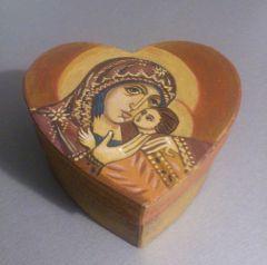 """Сувенир, сърце """"Св. Богородица"""""""