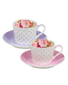 """Романтичен комплект чаши за кафе """"Перла"""""""
