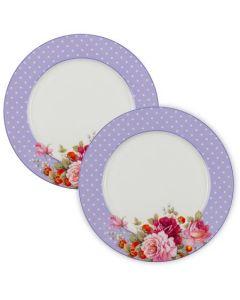 Комплект две чинии, перла лила, порцелан