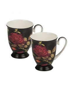 Комплект две порцеланови чаши Роза GOLD, ROYAL MUG