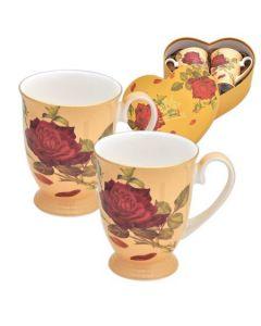 Чаши за влюбени - комплект 2 чаши ROYAL MUG, роза