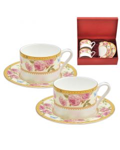 Комплект 2 чаши за  чай и кафе, Рози, класик