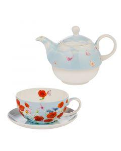 Комплект за чай, макове