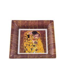 Квадратна декоративна чиния от порцелан , Целувката
