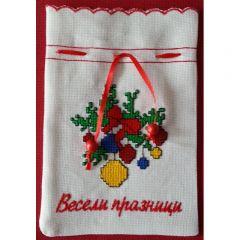 Коледна торбичка, бродерия