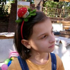 Детска диадема, гъбка, ръчно изработена от плъст