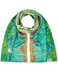 Шал от естествена коприна, Ириси на Ван Гог
