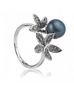 Сребърен пръстен, Цветя и перли