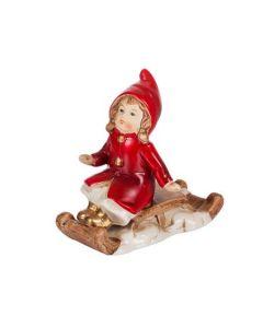 Дете с шейна, Коледна порцеланова миниатюра