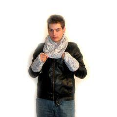 Комплект мъжки шал и ръкавици