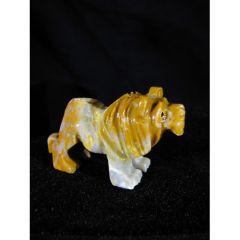 Миниатюра на лъв от стеатит