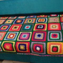 Разноцветно плетено одеяло Царската приказка на Софи