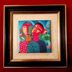"""Картина, рисувана керамика """"Любов"""""""