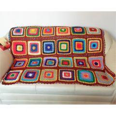 """Ръчно плетено одеяло """"Спокойствие"""""""