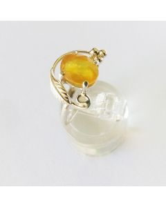 Богатство, сребърен пръстен с жълт сапфир