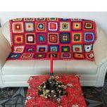 """Одеяло, плетено на една кука """"July morning"""""""