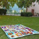 "Плетено многоцветно одеяло ""Настроения"""