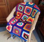 Ръчно плетено одеяло, Синьо лято