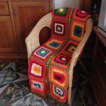 """Ръчно плетено одеяло """"Есенна молитва"""""""