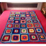 """Ръчно плетено одеяло """"Щастие"""""""