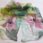 """Рисуван шал """"Стилизирани лилиуми"""""""