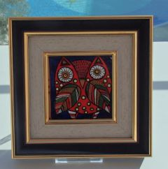 Миниатюрна керамична картина, Сова