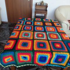 """Ръчно плетено одеяло """"Коледа"""""""
