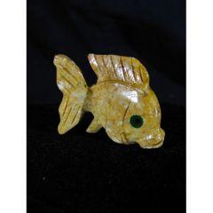 Риба, миниатюра от стеатит