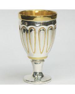 Чаша с канелюри, посребрена и частично позлатена