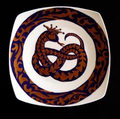 Любов, ръчно рисувана керамична чиния
