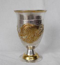 Чаша за ракия с ловни сцени