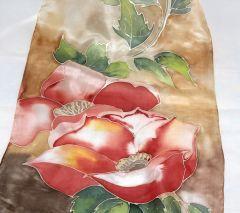 "Ръчно рисуван шал ""Свежи цветя"""