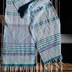 """Ръчно тъкан шал """"Морско настроение"""""""